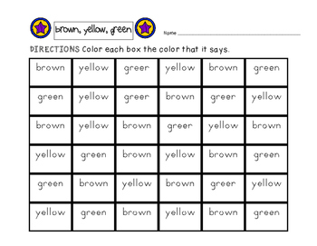 Color Word, 7 Sight Word Grids, Find and Color -Common Core-
