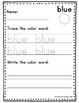 Color Word Handwriting Practice Packet