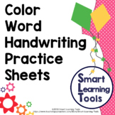 Handwriting Practice; Color Words