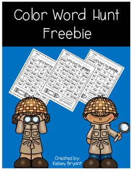 Color Word Hunt- FREEBIE