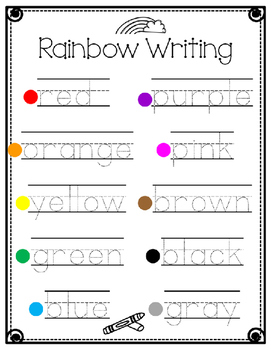 Color Word Literacy Centers