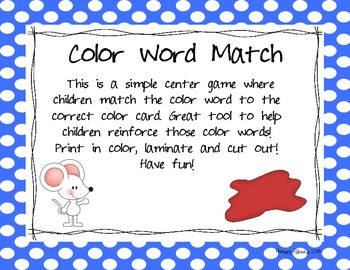 Color Word Match