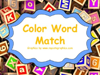 Color Word Match Activity