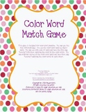 Color Word Matching Card Game