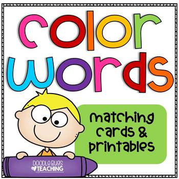 Color Word Matching Cards and Printables