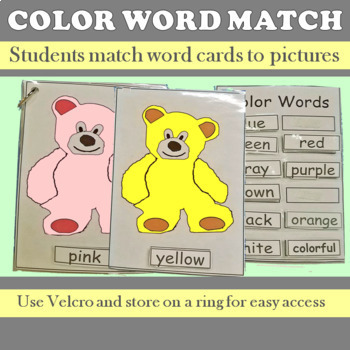Color Word Matching Teddy Bears