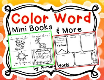 Color Word Mini Books and More !  11 Easy Readers