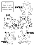 Color Word Monsters