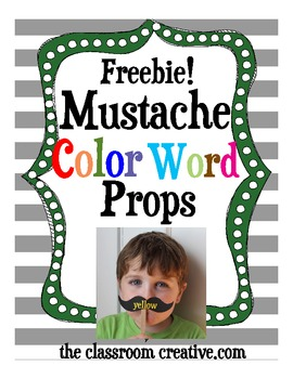 Free Color Word Mustache Props