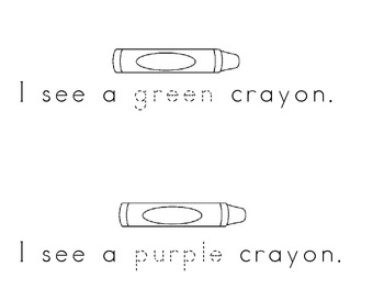 Color Word--My Crayons easy reader