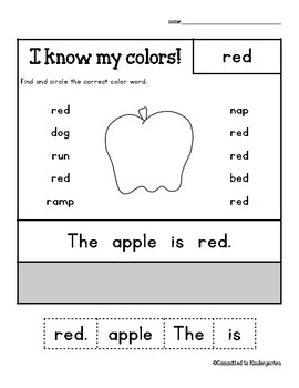 Color Word Packet