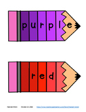 Color Word Paint Chip Pencil Puzzles