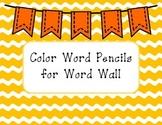 Color Word Pencils FREEBIE