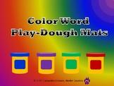 Color Word Play-dough Mats