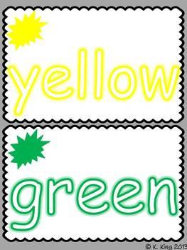 Color Word Playdoh Mats