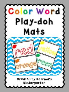 Color Word Playdoh Mats