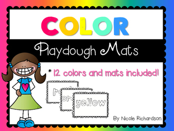 Color Word Playdough Mats!