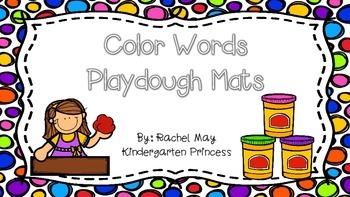 Color Word Playdough Mats (FREEBIE!)