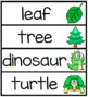 Color Word Pocket Chart Sentences