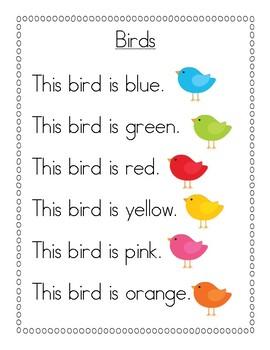 Color Word Poem