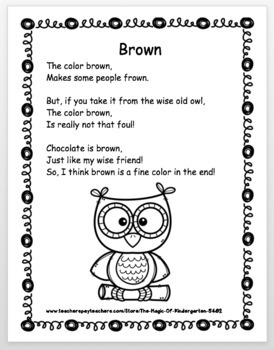Color Word Poems