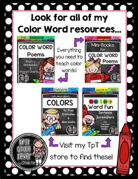 Color Word Poems {Mini-Books}