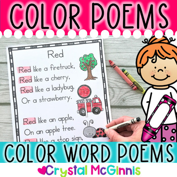 Color Word Poems for Shared Reading