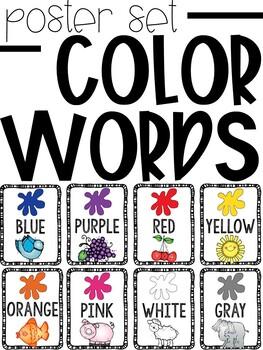 Color Word Poster Displays