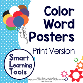 Color Word Posters By Smart Learning Tools
