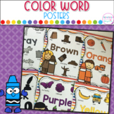 Color Word Posters with Pictures