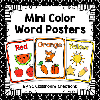 Color Word Mini Posters