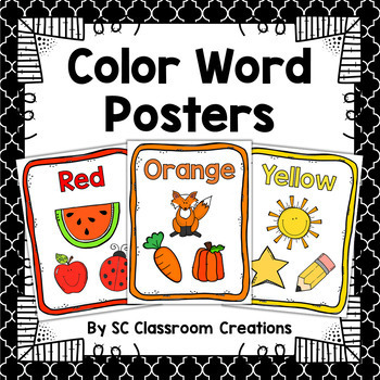 Color Word Posters-Classroom Decor