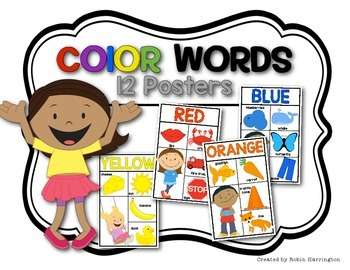 Color Posters for Kindergarten and First Grade