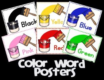 Color Word Posters (FREEBIE)