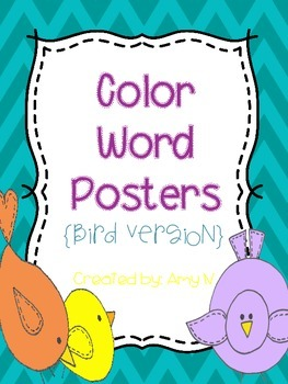 Color Word Posters {Bird Version}