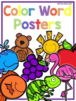 Color Word Posters - Bold and Bright (White Edition)