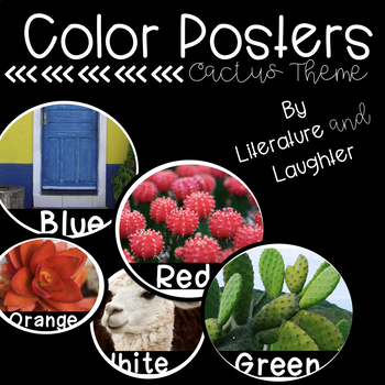 Color Word Posters- Cactus