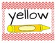 Color Word Posters Chevron Primary Red