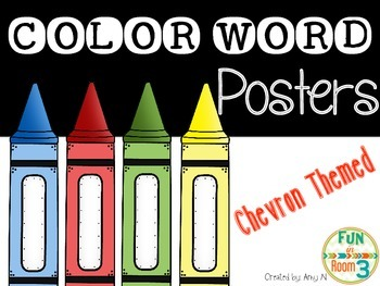 Color Word Posters (Chevron Themed)
