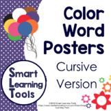 Color Word Posters - Cursive Version