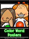 Color Word Posters (English & Spanish)
