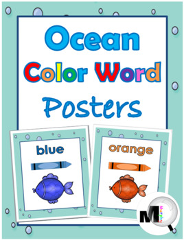 Color Word Posters  - [Ocean Theme]