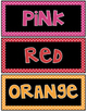 Color Word Posters {Polka Dot}