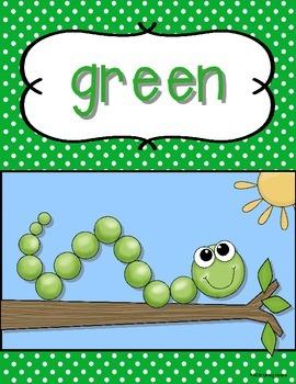 Color Word Posters Polka Dot Classroom Decor