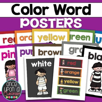 Color Word Posters & Writing Center Words