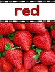 Color Word Posters with Real World Pictures {Food Theme}