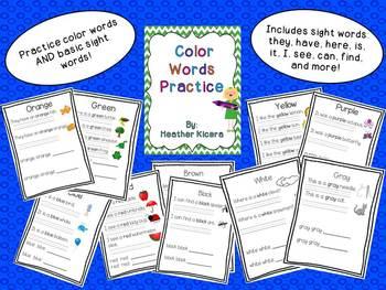 Color Word Practice!