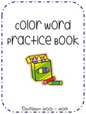 Color Word Practice Book