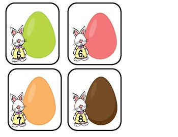 Color Word Practice ~ Going On An Egg Hunt