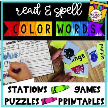 Color Word Practice Pack {Games, Puzzles, Station Activities and More!}